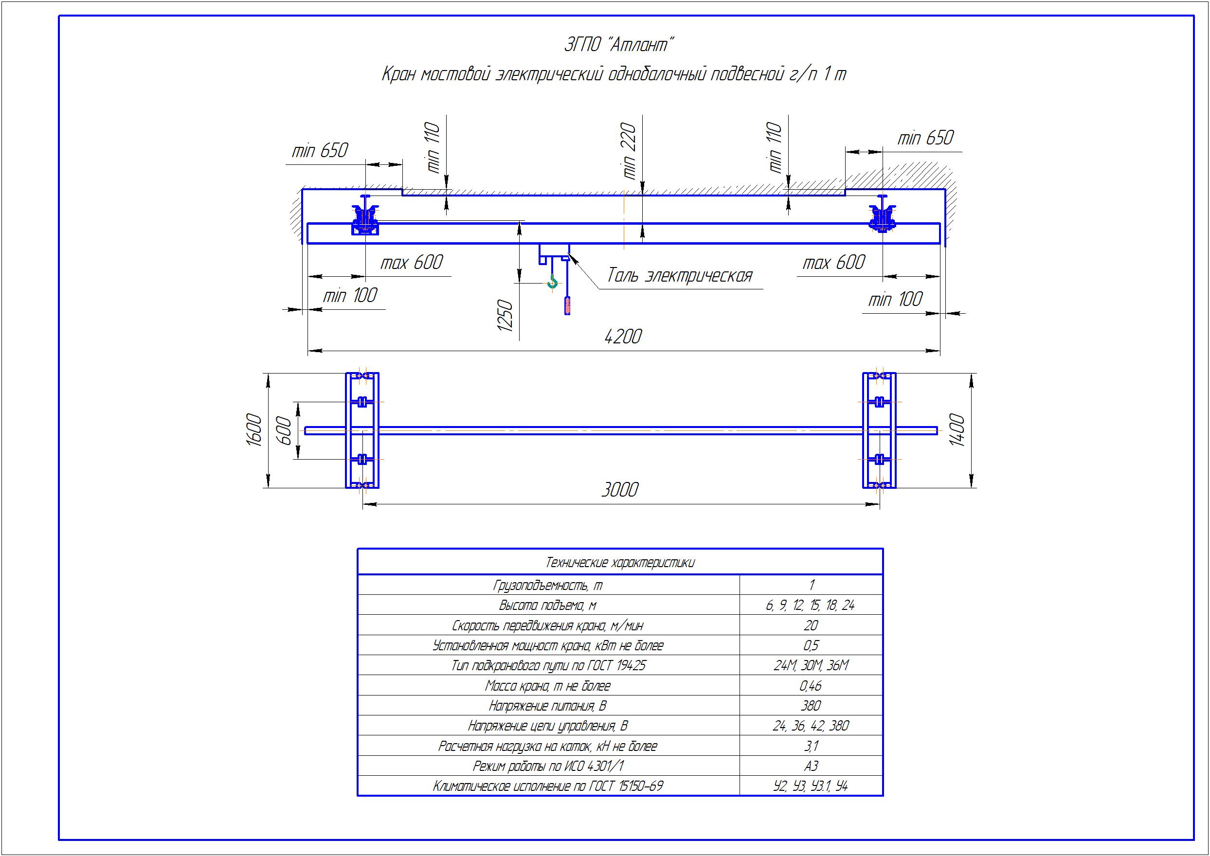 KBP 1 1 1 - Подвесная кран балка