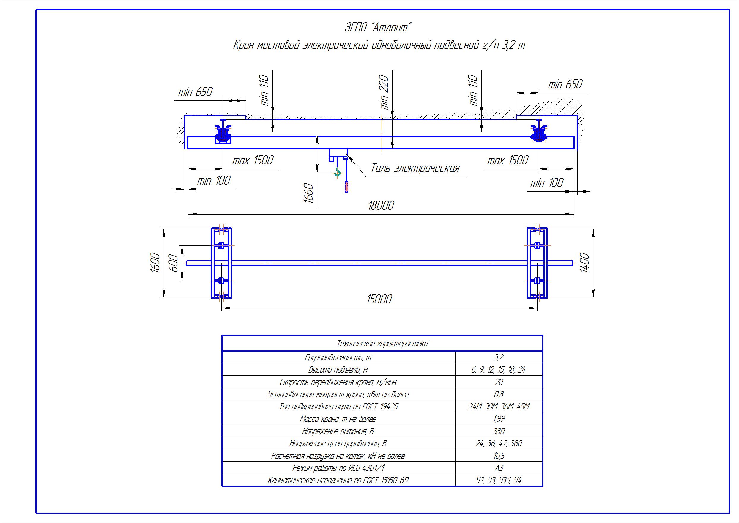 KBP 3 5 - Подвесная кран балка