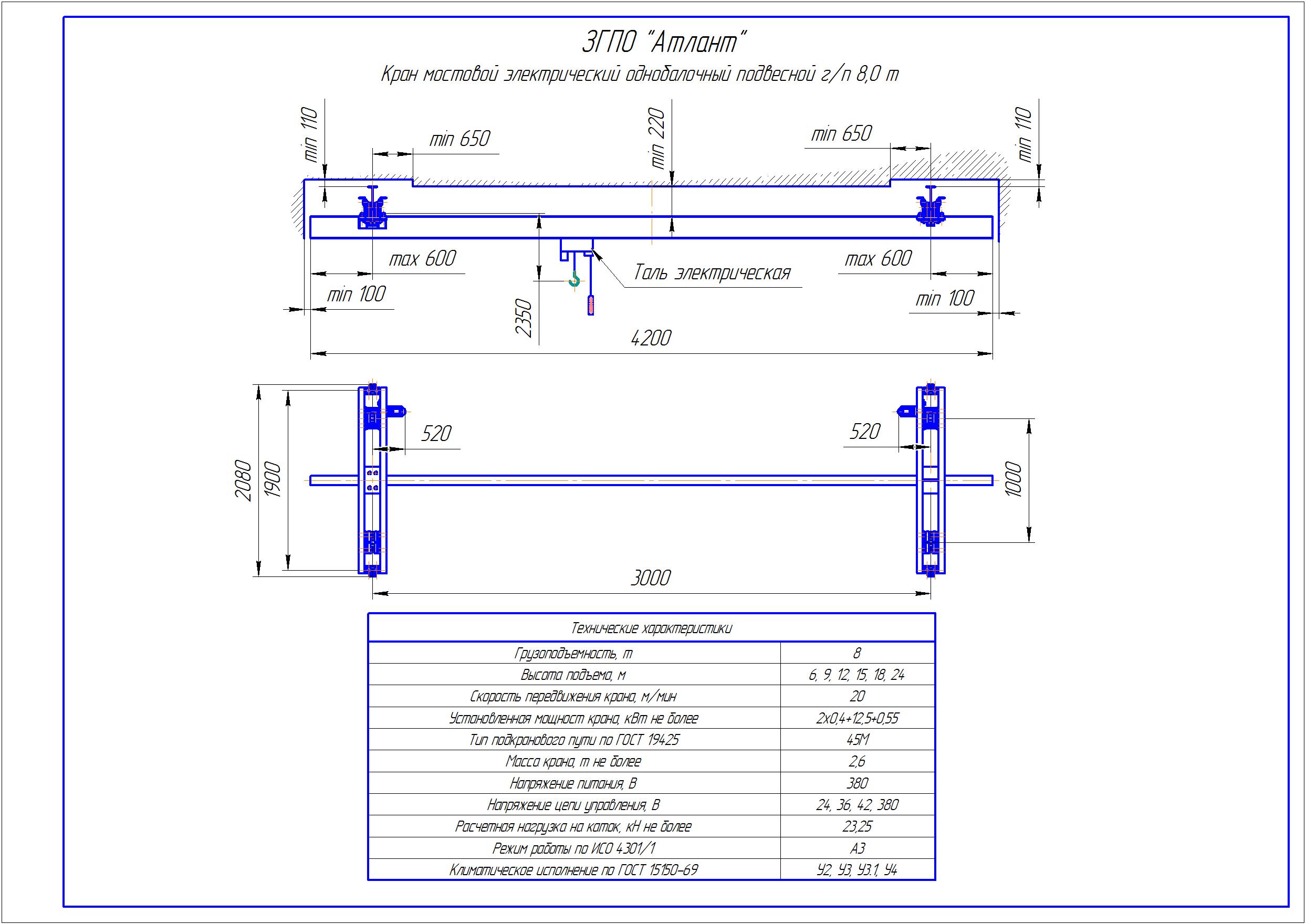 KBP 6 1 - Подвесная кран балка