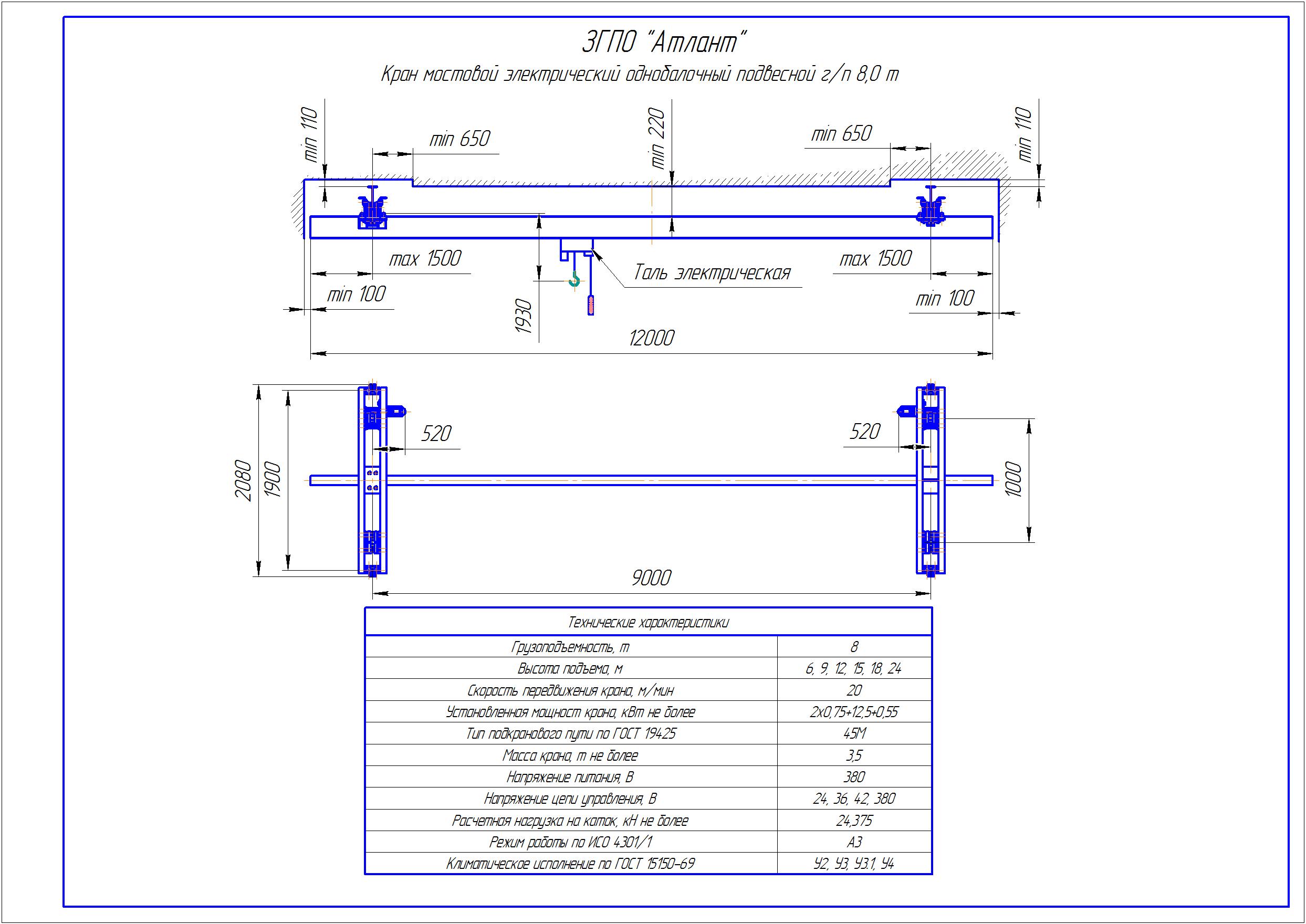 KBP 6 3 - Подвесная кран балка