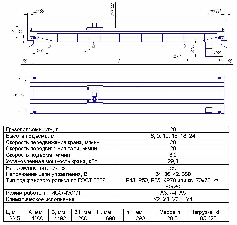 KMON 5 5 - Опорный мостовой кран общего назначения
