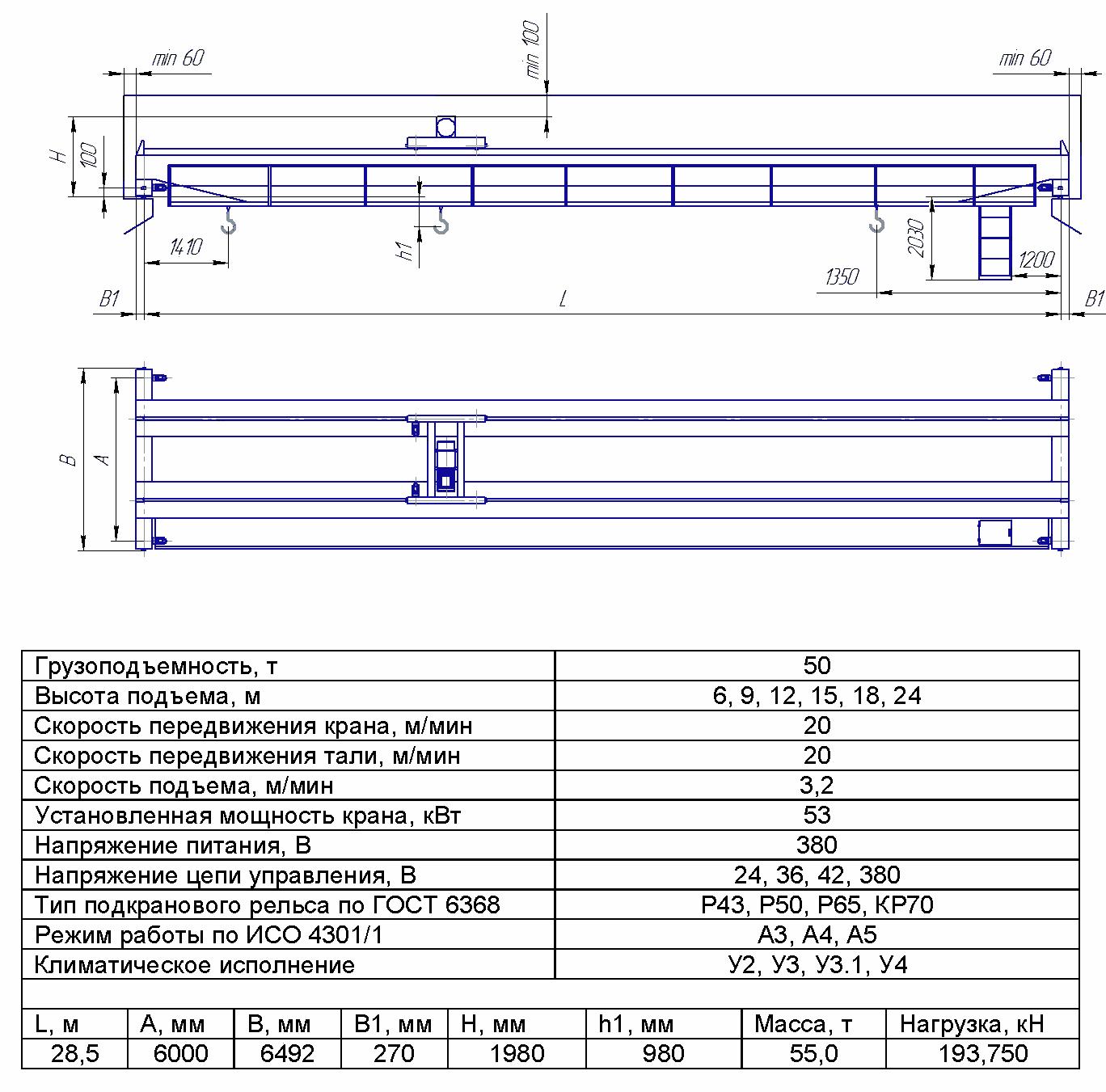 KMON 8 7 - Опорный мостовой кран общего назначения