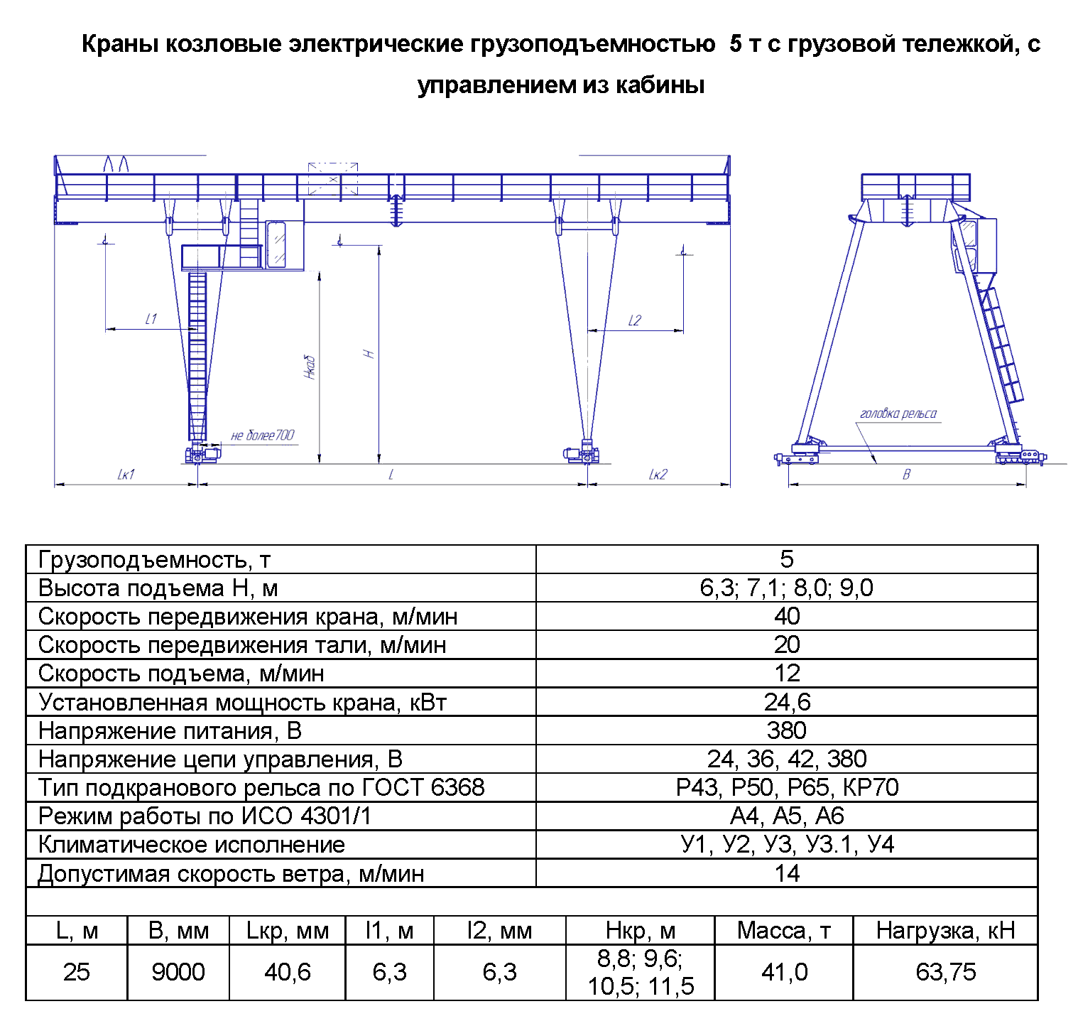 KKD 5 250 - Кран козловой электрический двухбалочный