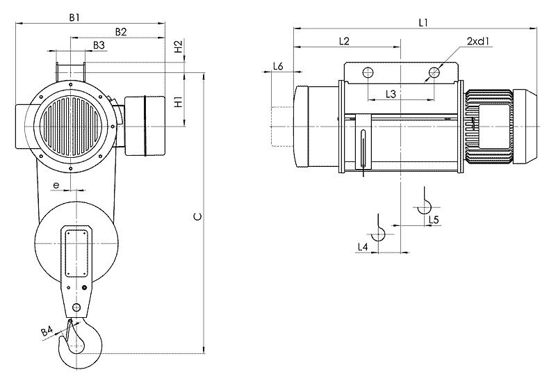 telfer T02 1 - Таль электрическая канатная стационарная