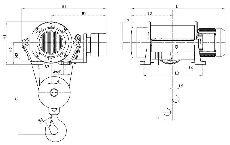telfer T35 - Таль электрическая канатная стационарная
