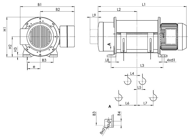 telfer T51 - Таль электрическая канатная стационарная