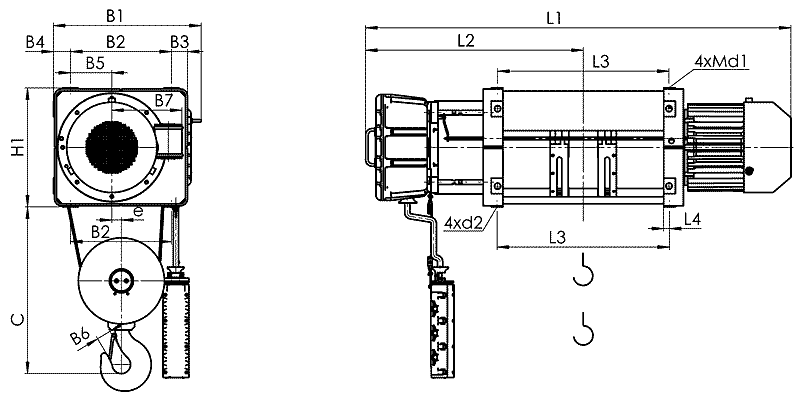 telfer VMT 11 - Таль электрическая канатная стационарная