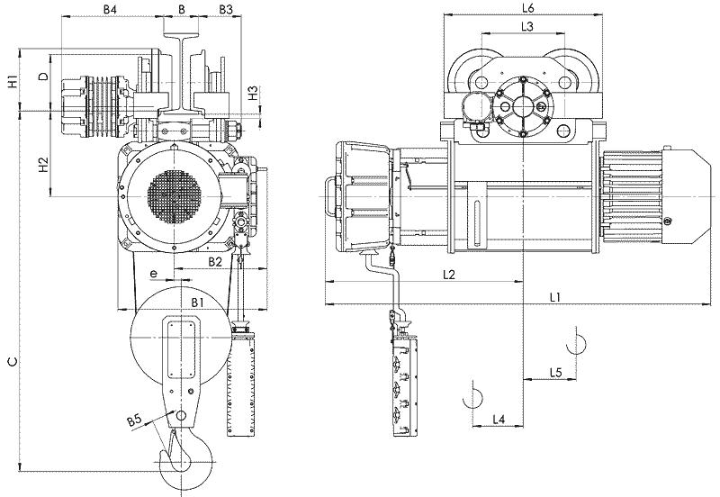 telfer VT10 1 - Таль электрическая канатная передвижная на монорельсовой тележке