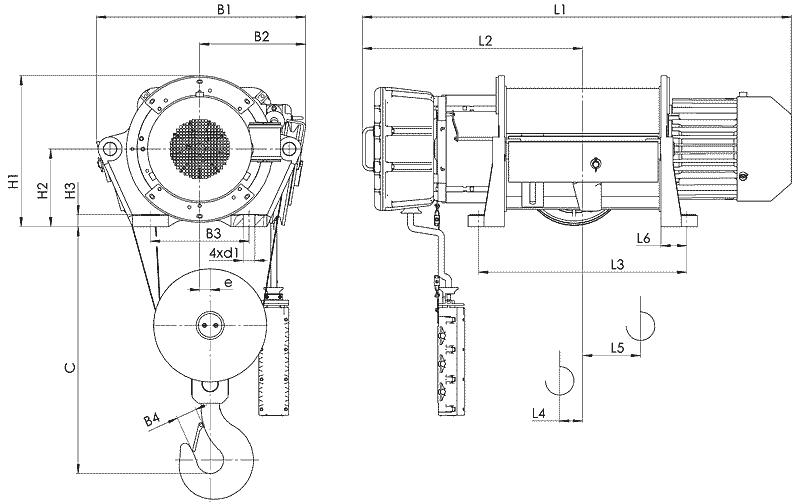 telfer VT35 - Таль электрическая канатная стационарная