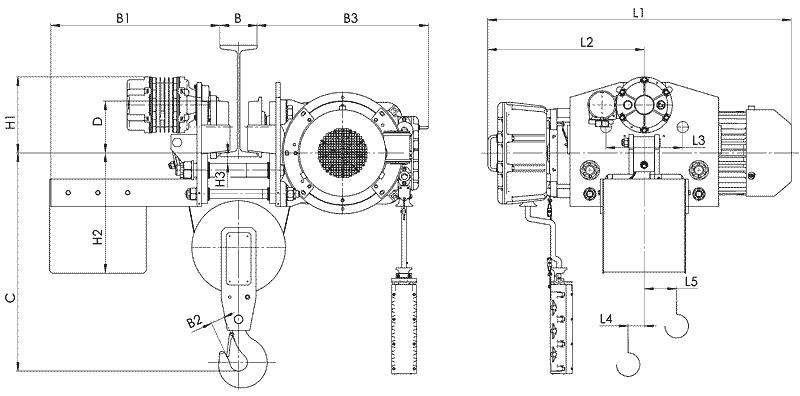 telfer VT45 - Таль электрическая канатная передвижная УСВ