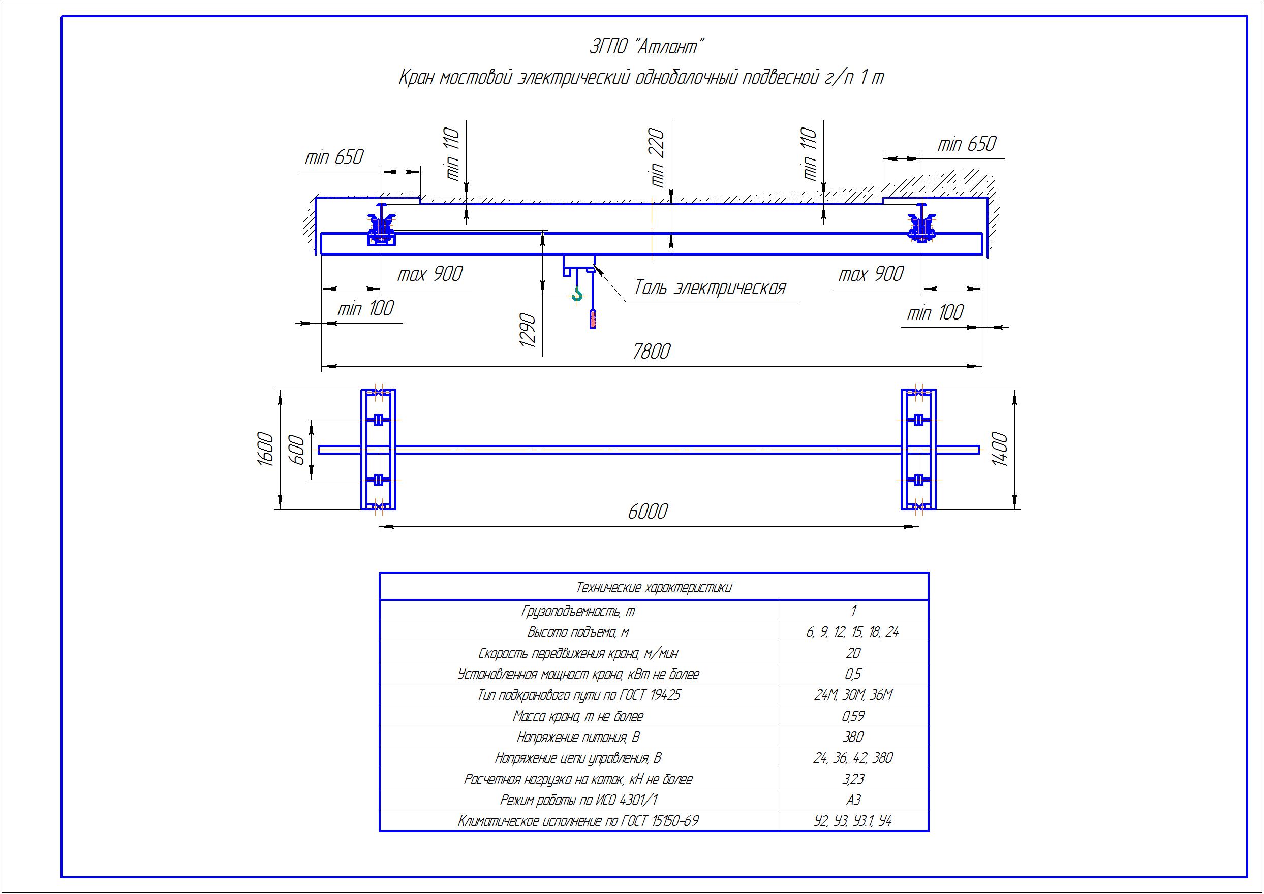 KBP 1 2 - Подвесная кран балка