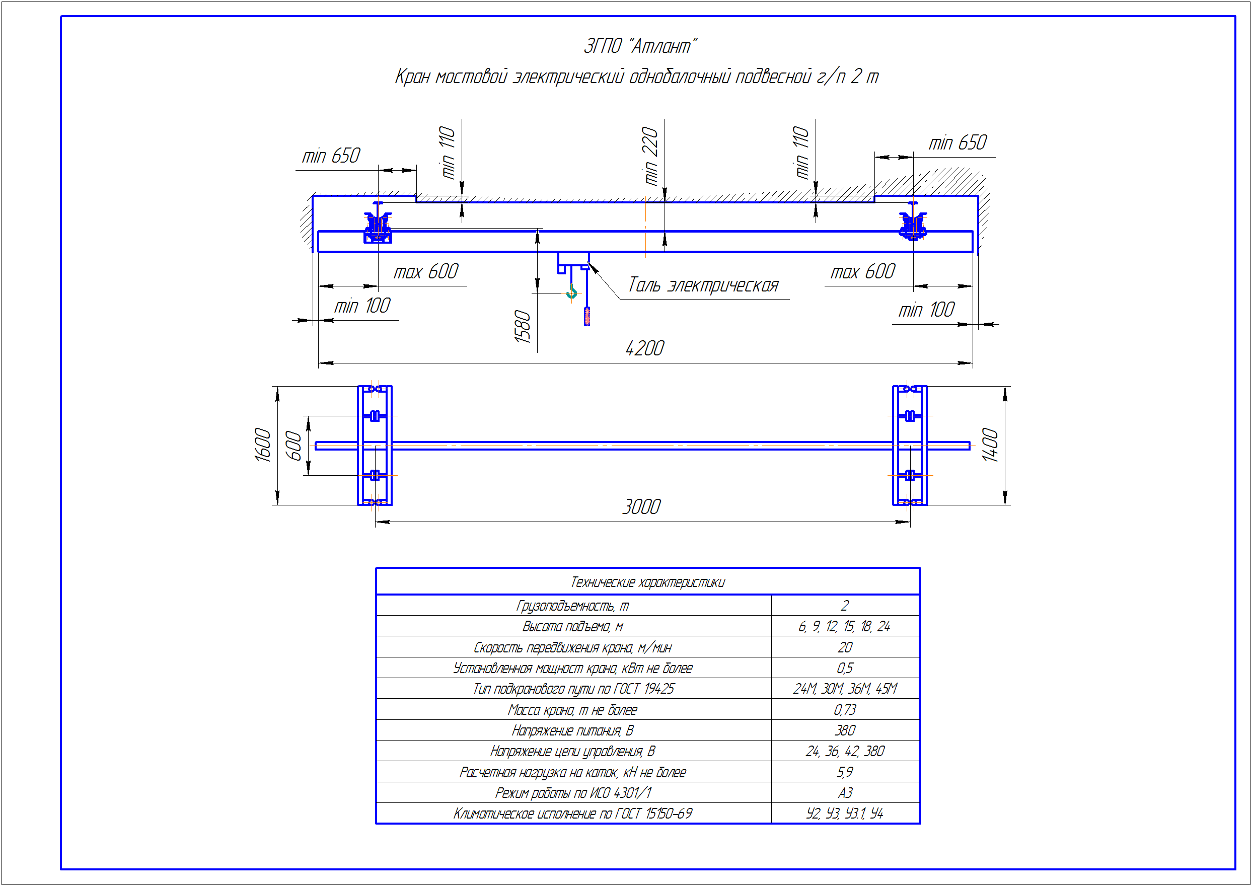 KBP 2 1 - Подвесная кран балка