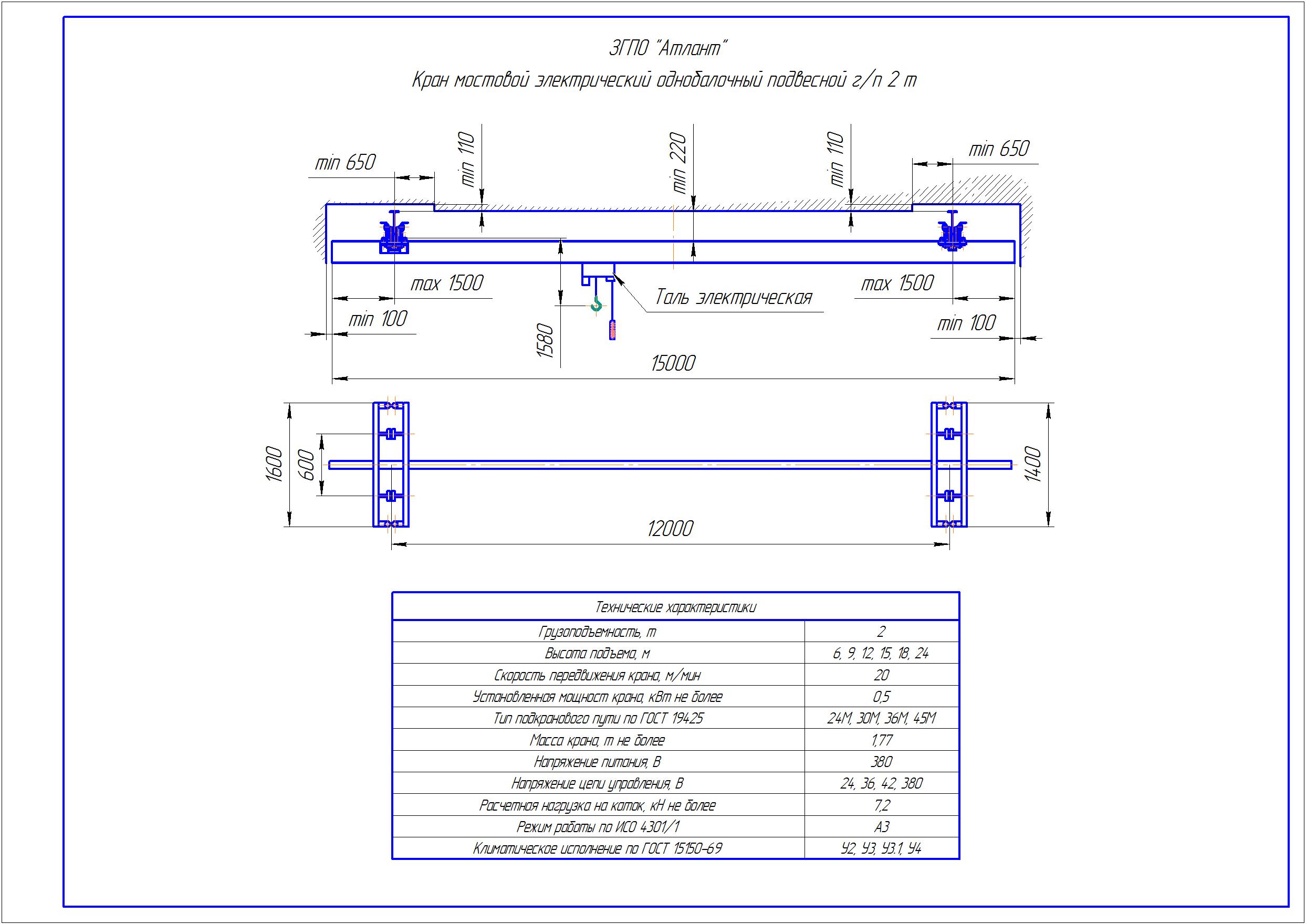 KBP 2 4 - Подвесная кран балка