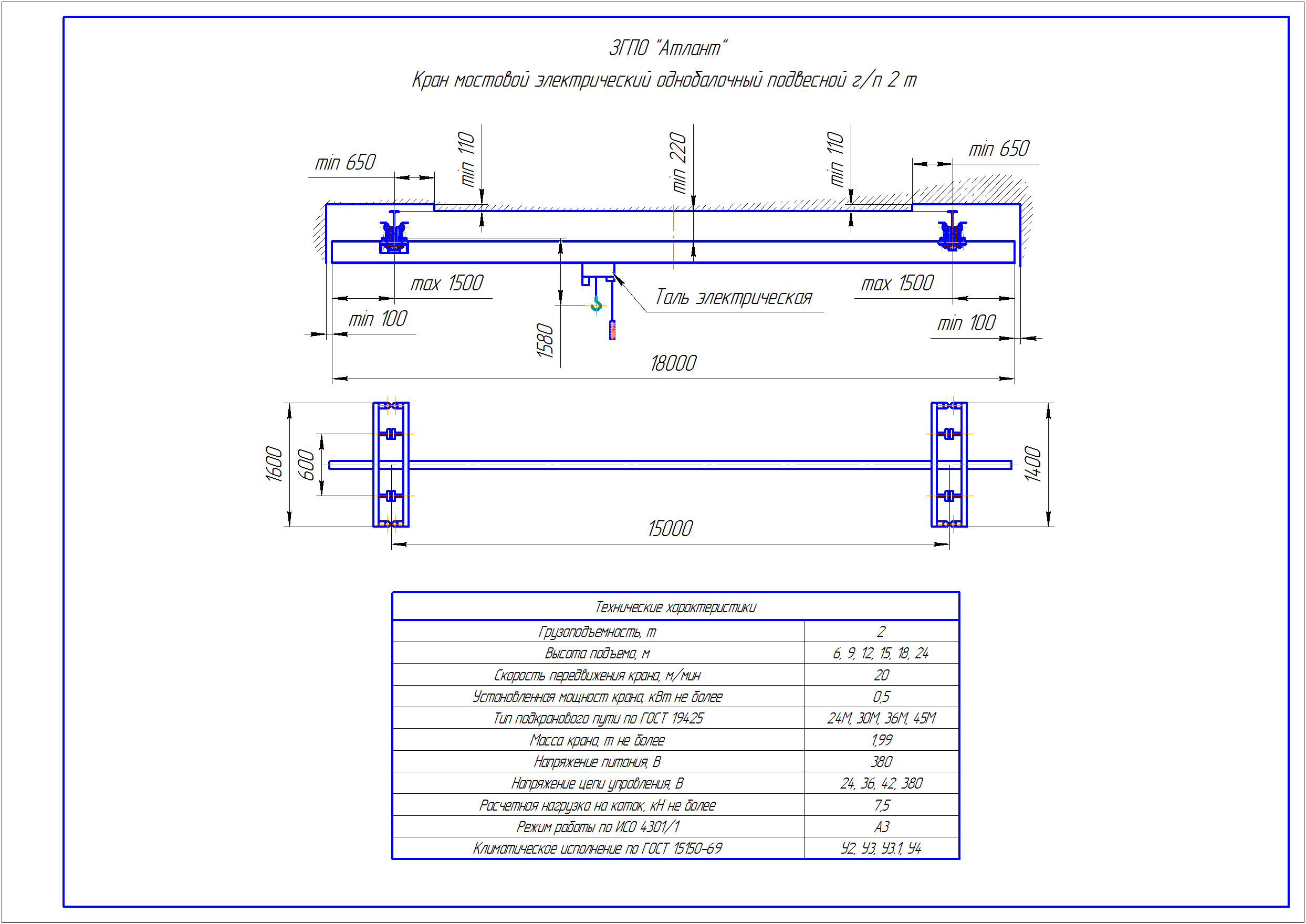 KBP 2 5 - Подвесная кран балка