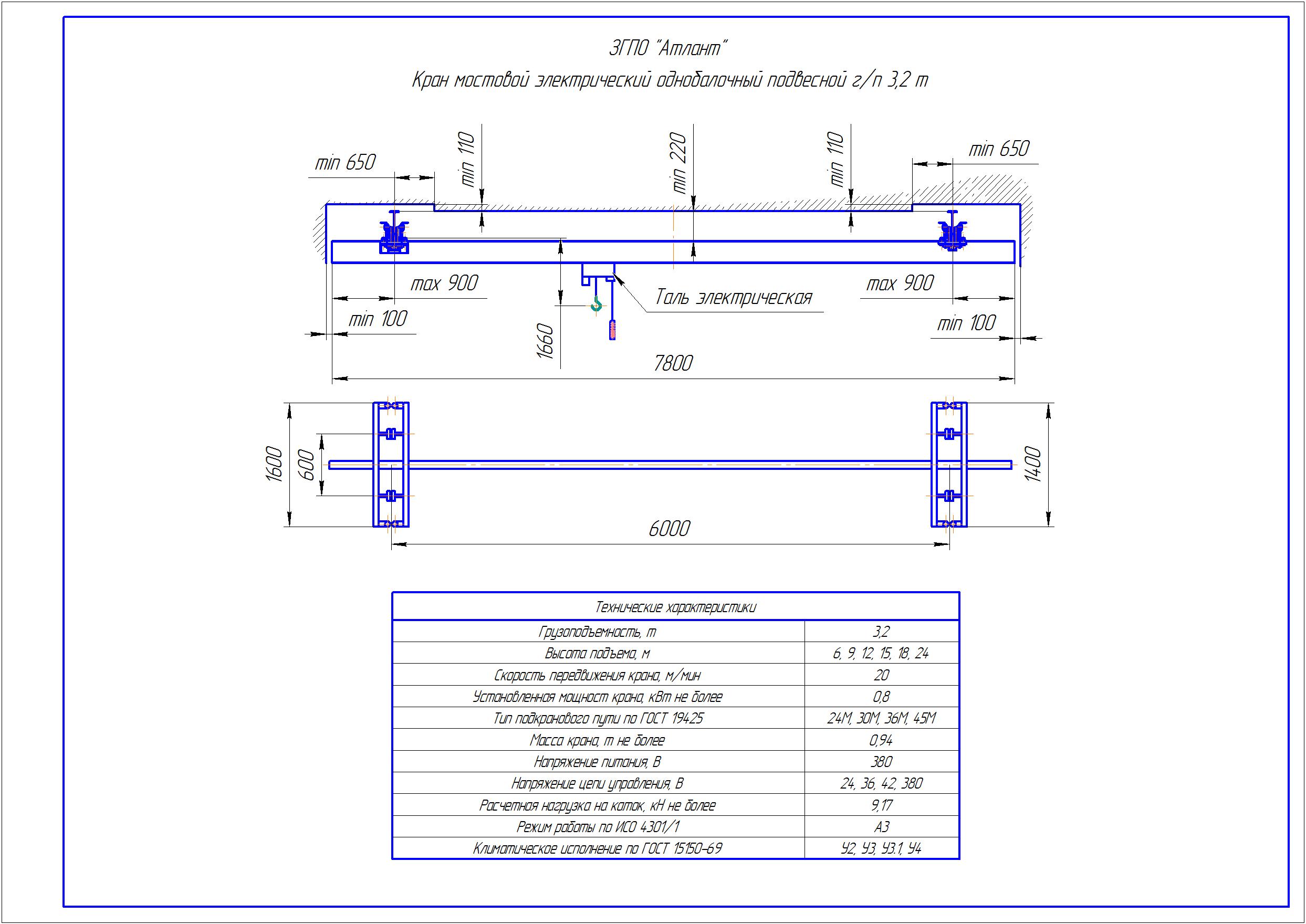 KBP 3 2 - Подвесная кран балка