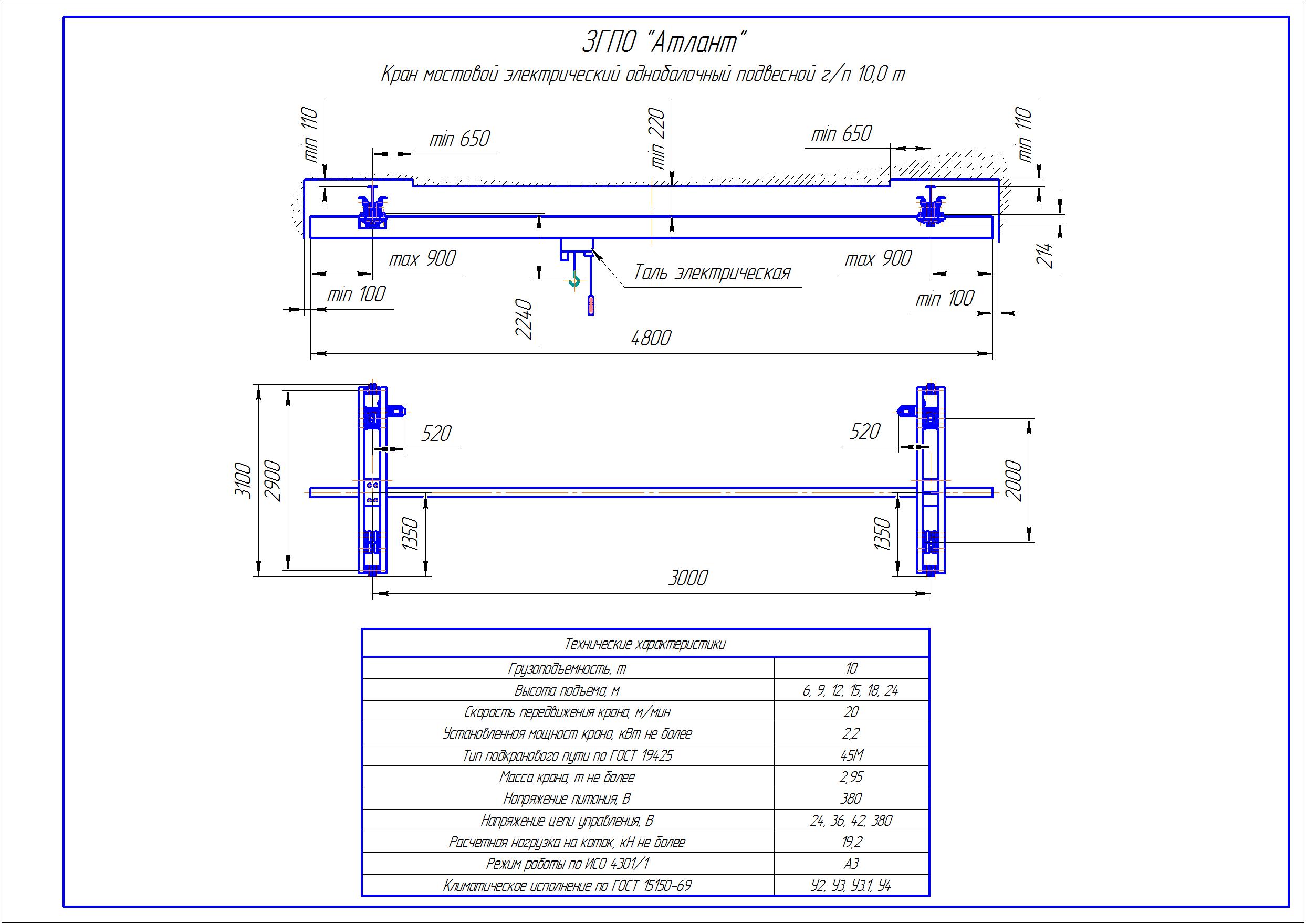 KBP 7 1 - Подвесная кран балка