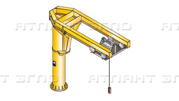 Консольный кран поворотный стационарный с двумя параллельными консолями