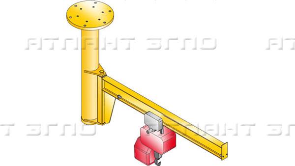 Кран консольный с потолочным креплением