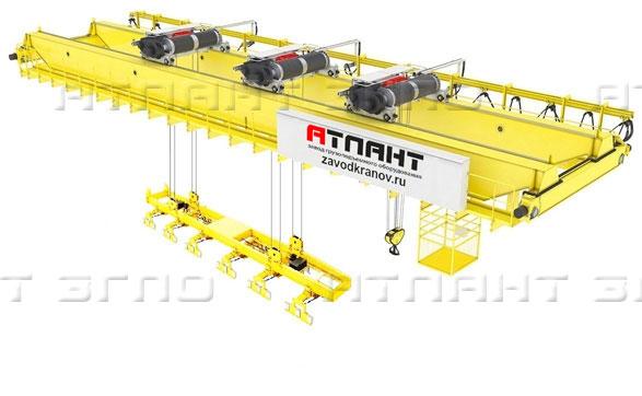 Кран мостовой специальный с гибким или жестким подвесом траверсы