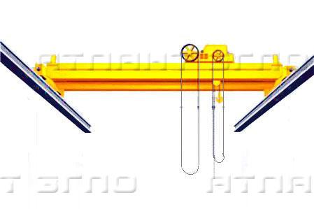 Кран ручной мостовой опорный двухбалочный
