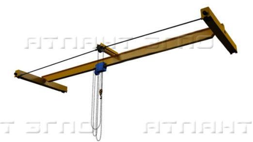 Кран ручной мостовой опорный однобалочный