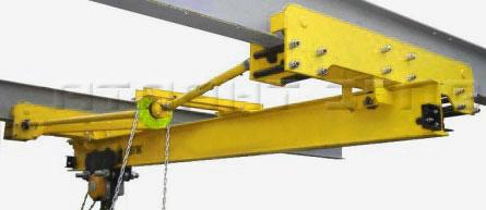 Кран ручной мостовой подвесной однобалочный
