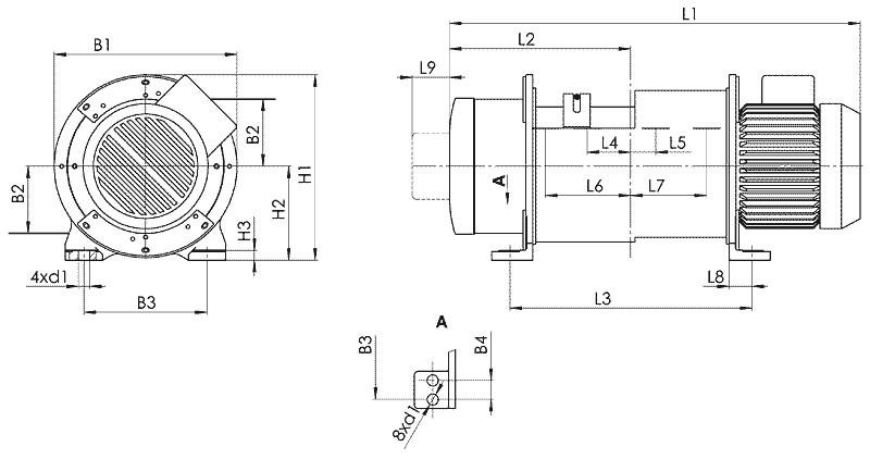 telfer T52 - Таль электрическая канатная стационарная