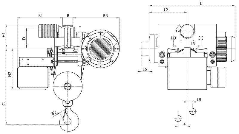 telfer T78 2 - Таль электрическая канатная передвижная УСВ