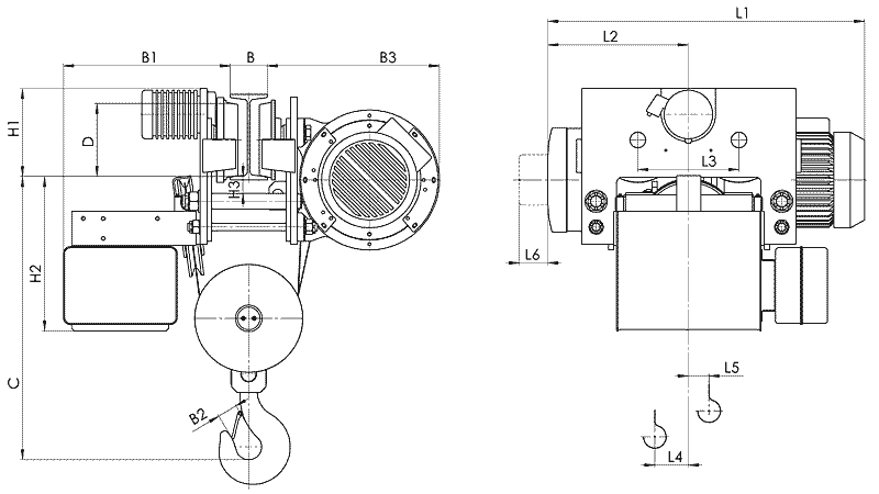 telfer T78 - Таль электрическая канатная передвижная УСВ