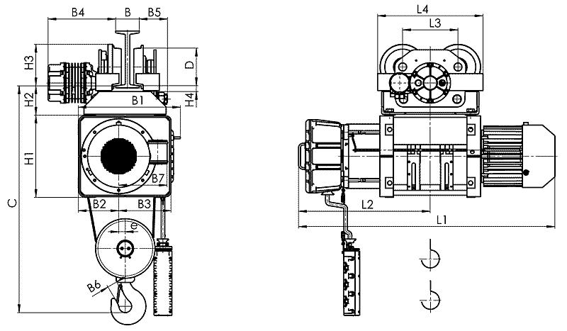 telfer VMT 12 - Таль электрическая канатная передвижная на монорельсовой тележке