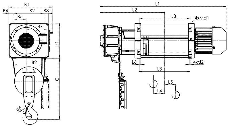 telfer VMT 2 - Таль электрическая канатная стационарная