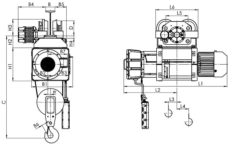 telfer VMT 4 - Таль электрическая канатная передвижная на монорельсовой тележке