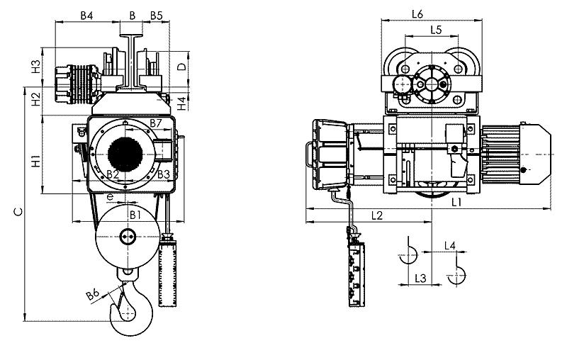 telfer VMT 8 - Таль электрическая канатная передвижная на монорельсовой тележке