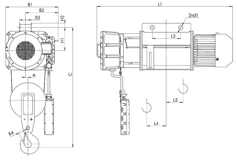 telfer VT02 1 - Таль электрическая канатная стационарная