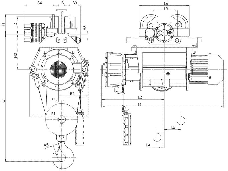 telfer VT39 1 - Таль электрическая канатная передвижная на монорельсовой тележке