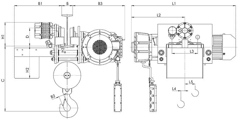 telfer VT78 - Таль электрическая канатная передвижная УСВ